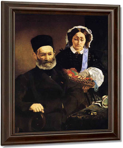 Portrait Of Monsieur And Madame Manet By Edouard Manet