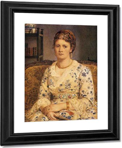 Portrait Of Mrs J.P.Heselitine By Sir Edward John Poynter