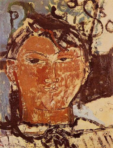 Portrait Of Pablo Picasso By Amedeo Modigliani