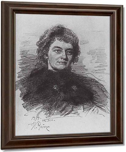 Portrait Of Poetess, Writer And Literary Critic Zinaida Nikolayevna Gippius. By Ilia Efimovich Repin