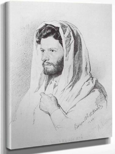 Portrait Of Sculptor Mark Matveevich Antokolski. 1 By Ilia Efimovich Repin