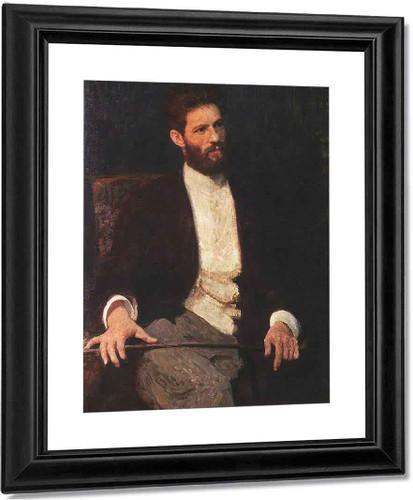 Portrait Of Sculptor Mark Matveevich Antokolski. By Ilia Efimovich Repin
