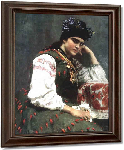Portrait Of Sophia Dragomirova. By Ilia Efimovich Repin