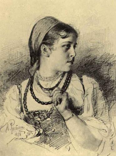 Portrait Of T. A. Mamontova. By Ilia Efimovich Repin