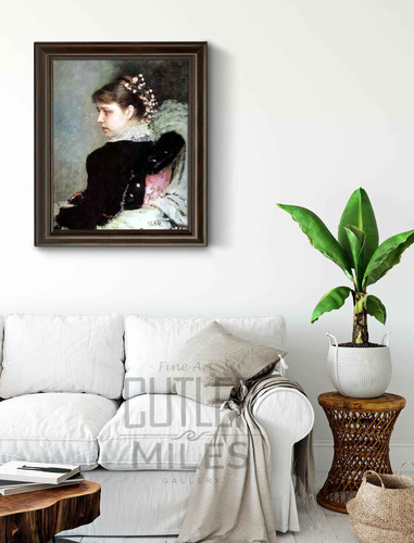 Portrait Of Tatiana Rechinskay. By Ilia Efimovich Repin