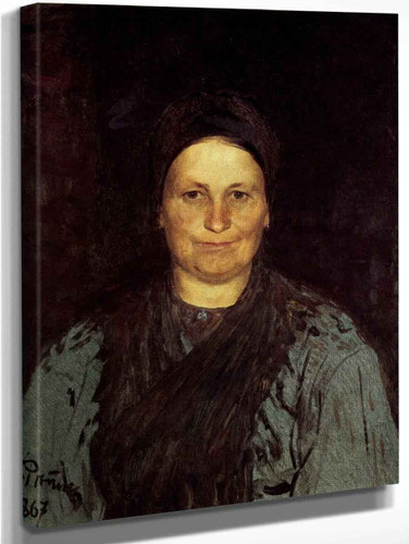 Portrait Of Tatyana Repina, The Artist's Mother. By Ilia Efimovich Repin Art Reproduction