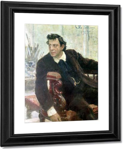 Portrait Of The Actor Pavel Samoylov. By Ilia Efimovich Repin