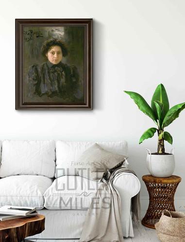 Portrait Of The Artist's Daughter Nadezhda By Ilia Efimovich Repin Art Reproduction