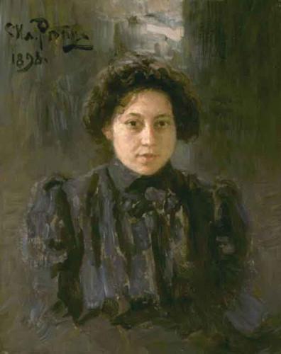 Portrait Of The Artist's Daughter Nadezhda By Ilia Efimovich Repin