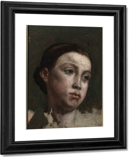 Portrait Of The Artist's Sister By Gustave Courbet Art Reproduction