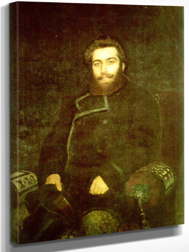 Portrait Of The Artist Arkhip Kuinji. By Ilia Efimovich Repin