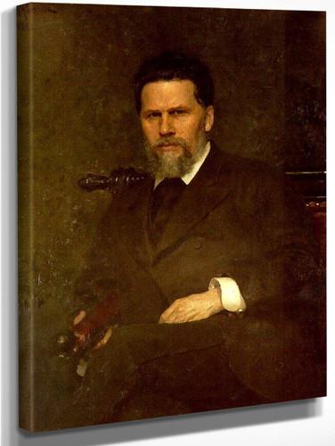 Portrait Of The Artist Ivan Kramskoy. By Ilia Efimovich Repin