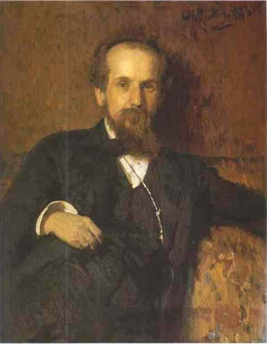 Portrait Of The Artist Pavel Tchistyakov. By Ilia Efimovich Repin
