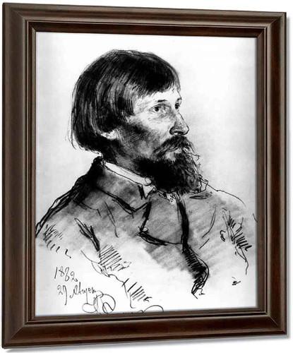 Portrait Of The Artist Viktor Vasnetsov. By Ilia Efimovich Repin