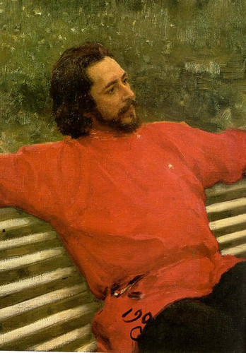 Portrait Of The Author Leonid Andreev. 1 By Ilia Efimovich Repin