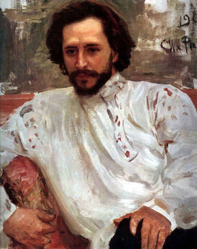 Portrait Of The Author Leonid Andreev. By Ilia Efimovich Repin