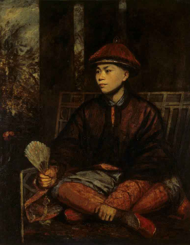Portrait Of Wang At Tong A Chinese By Sir Joshua Reynolds