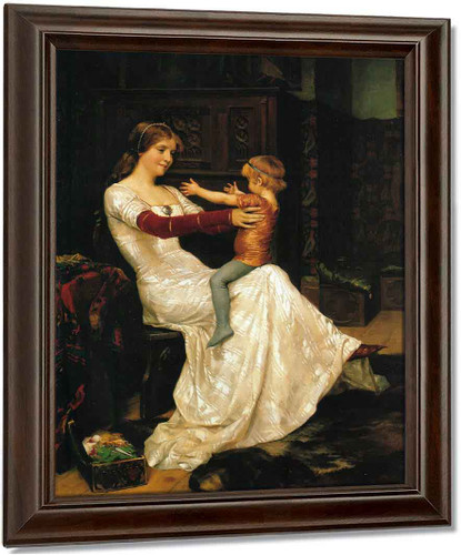 Queen Blanka By Albert Edelfelt