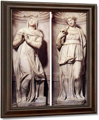 Rachel And Leah By Michelangelo Buonarroti