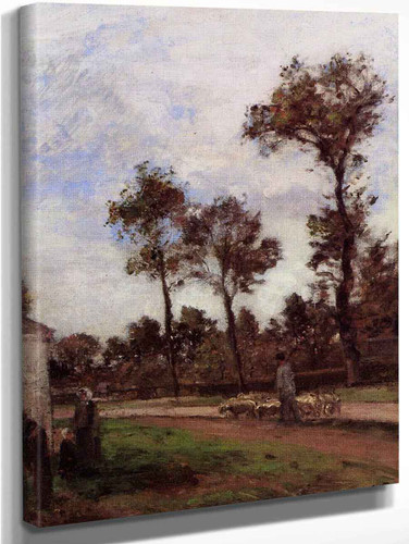 Road At Louveciennes By Camille Pissarro