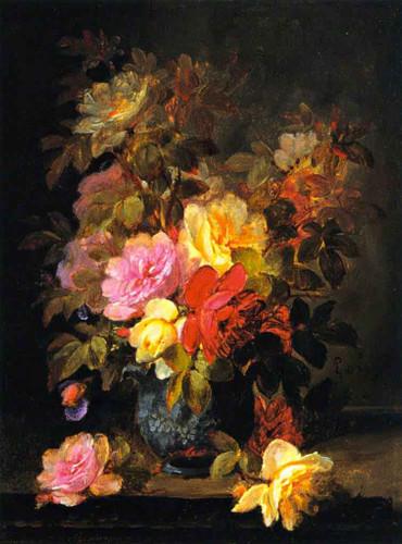 Roses By Raoul De Longpre By Raoul De Longpre