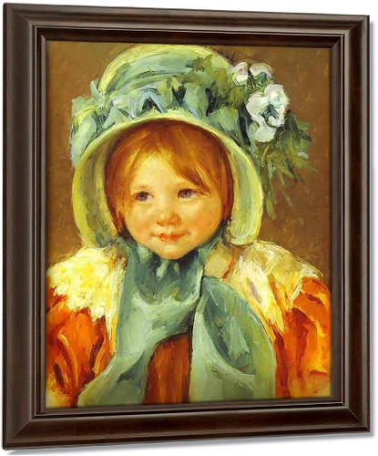 Sarah In A Green Bonnet By Mary Cassatt