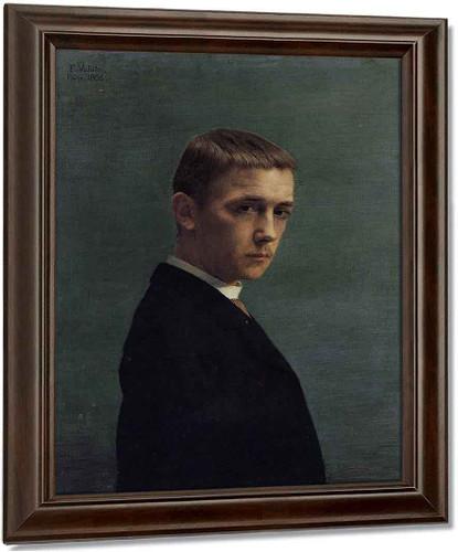 Self Portrait At 20 By Felix Vallotton