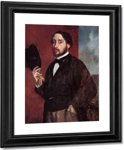 Self Portrait Saluting By Edgar Degas