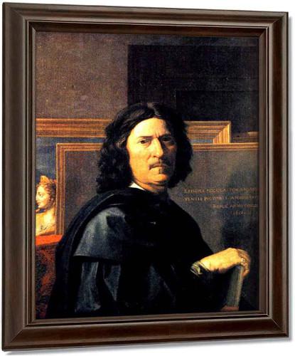 Self Portrait By Nicolas Poussin