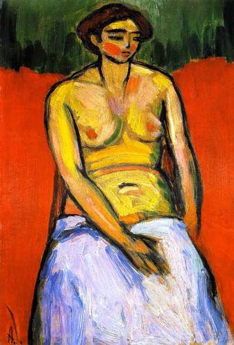 Sitting Female Nude By Alexei Jawlensky By Alexei Jawlensky