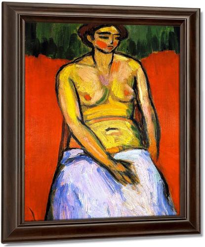 Sitting Female Nude By Alexei Jawlensky
