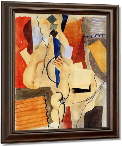Smoking In The Shelter By Roger De La Fresnaye Oil on Canvas Reproduction