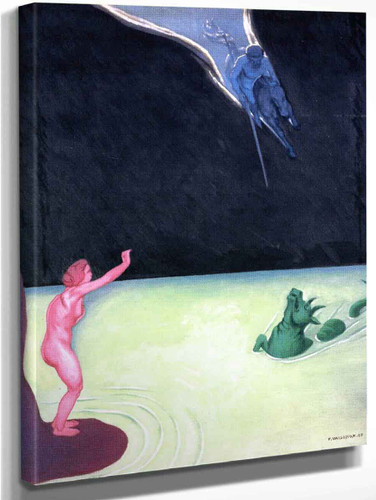 Standing Andromeda And Perseus By Felix Vallotton