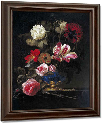 Still Life In A Vase1 By Willem Van Aelst By Willem Van Aelst