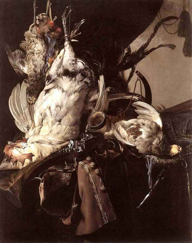 Still Life Of Dead Birds And Hunting Weapons By Willem Van Aelst By Willem Van Aelst