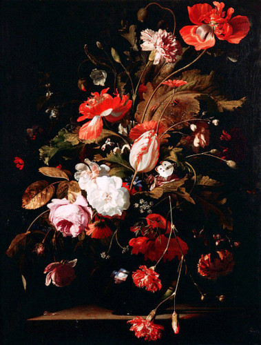 Still Life With Flowers By Willem Van Aelst By Willem Van Aelst