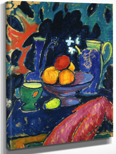 Still Life With Jug By Alexei Jawlensky By Alexei Jawlensky