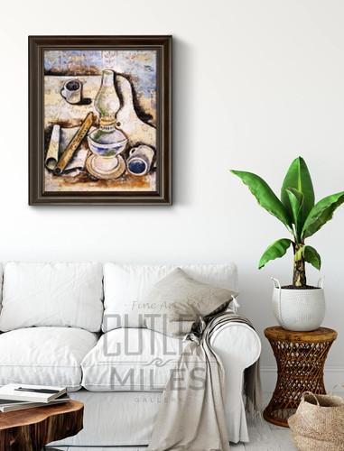 Still Life With Lamp And Flute By Jankel Adler By Jankel Adler