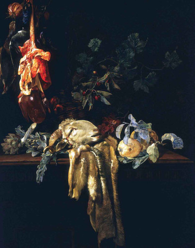 Still Life With Rams Head By Willem Van Aelst By Willem Van Aelst