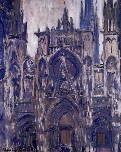 Study Of The Portal By Claude Oscar Monet