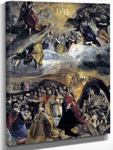 The Adoration Of The Name Of Jesus By El Greco By El Greco