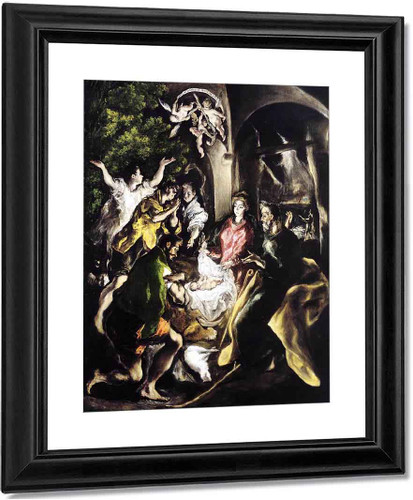The Adoration Of The Shepherds By El Greco By El Greco