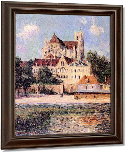 The Auxerre Cathedral 1 By Gustave Loiseau