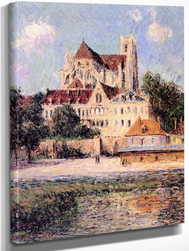 The Auxerre Cathedral 1 By Gustave Loiseau By Gustave Loiseau