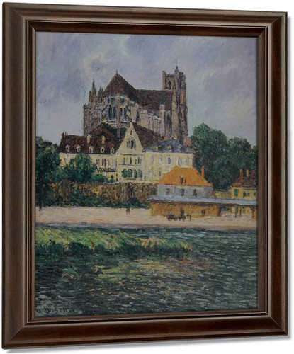 The Auxerre Cathedral 3 By Gustave Loiseau
