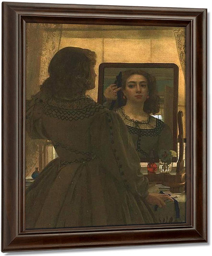 The Bunch Of Blue Ribbons By Sir Edward John Poynter Oil on Canvas Reproduction