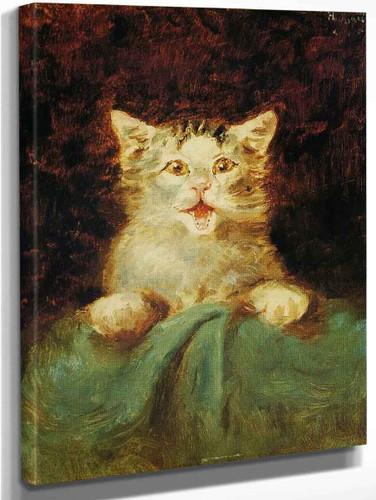 The Cat By Henri De Toulouse Lautrec