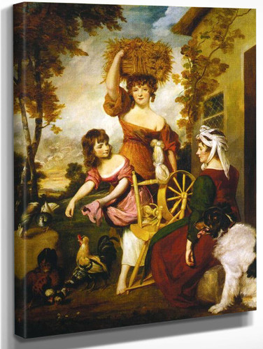 The Cottagers By Sir Joshua Reynolds