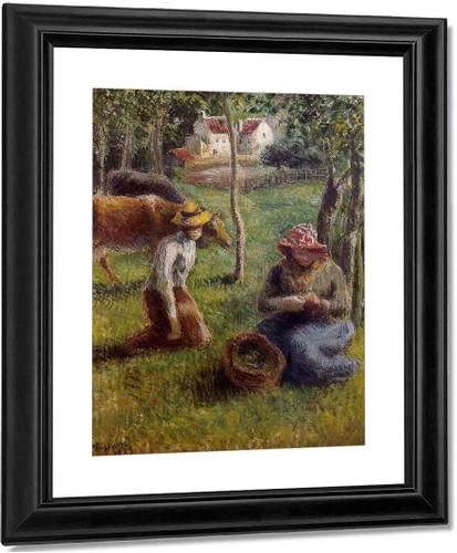 The Cowherds By Camille Pissarro