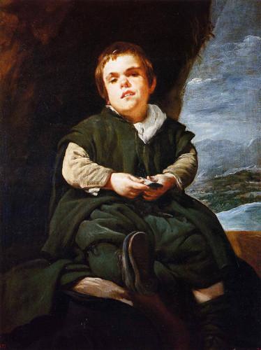 The Dwarf Francisco Lezcano By Diego Velazquez